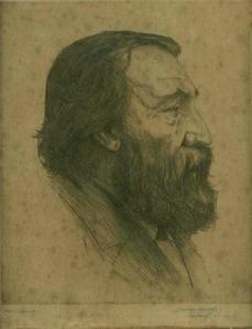 Peter Benoit, door Jos van Hoof (Bibliotheek Koninklijk Conservatorium Antwerpen, Collectie Dubar)